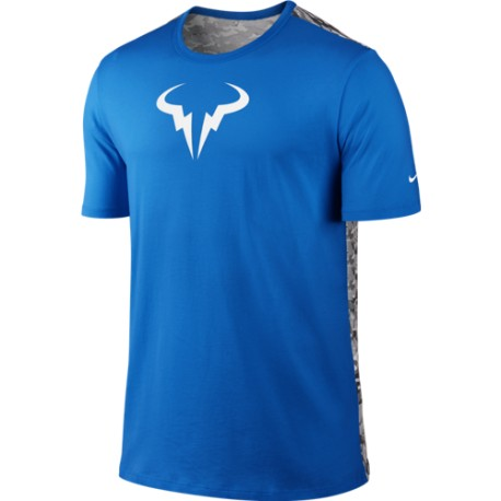 Pánské tenisové tričko Nike Rafa Crew blue/white