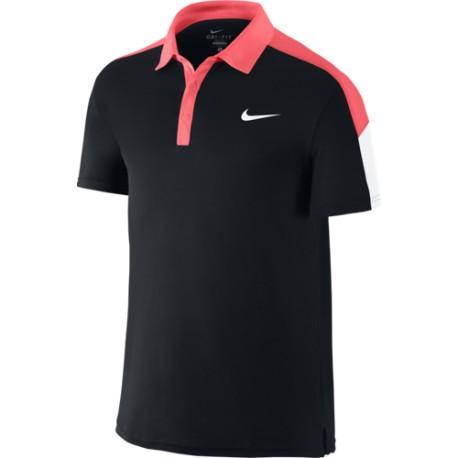 Pánské tenisové tričko Nike Team Court Polo black / hot lava