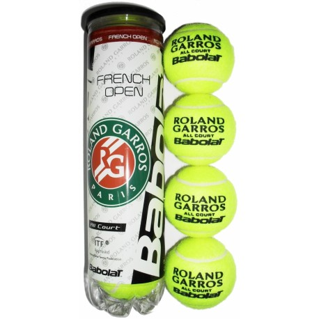 Tenisové míče Babolat French Open All Court / 4 kusy