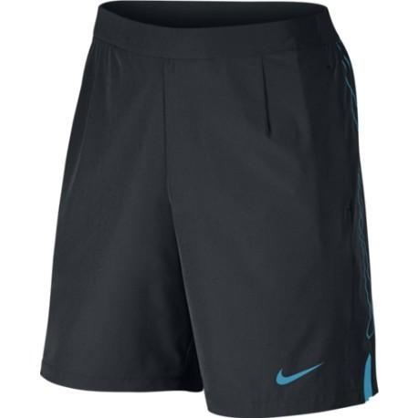 b2579e60cd1 Pánské tenisové šortky Nike Gladiator 9´black  lt blue - Tenissport Březno