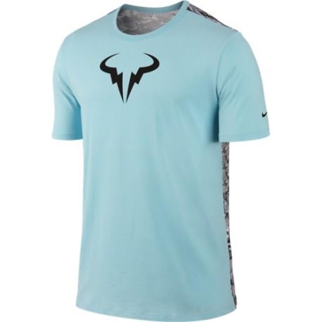 Pánské tenisové tričko Nike Rafa Crew copa/white/black