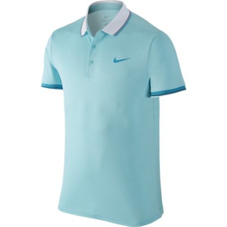 Pánské tenisové tričko Nike Court Polo copa/white/blue lagoon