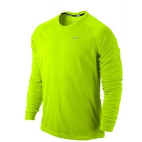 Pánské tričko Nike Miler UV Team Long Sleeve volt