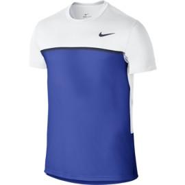 Pánské tenisové tričko Nike Challenger white royal