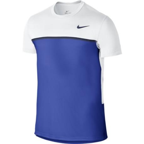 Pánské tenisové tričko Nike Challenger Crew white/royal