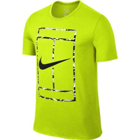 1c1b1e699eff Pánské tenisové tričko Nike Court Logo volt - Tenissport Březno