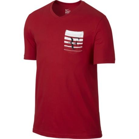 Pánské tenisové tričko Nike Roger Federer red