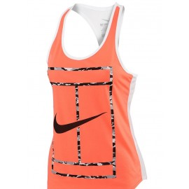 Dámské tenisové tílko Nike Court French Stripe orange/white