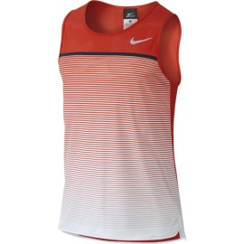 Pánské tenisové tričko Nike Challenger Premier červená/bílá
