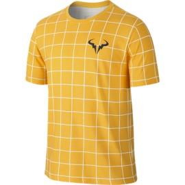 Pánské tenisové tričko Nike Rafa white varsity maize