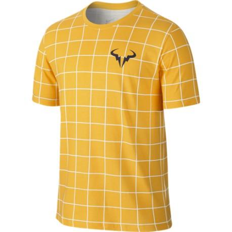 Pánské tenisové tričko Nike Rafa Crew white / varsity maize