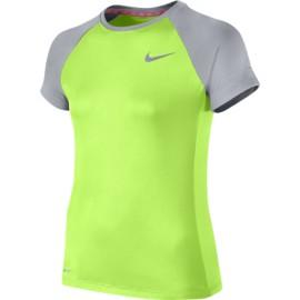 Dívčí tričko Nike Miler Crew green/grey