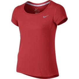 Dívčí tenisové tričko Nike Dri-FIT Contour Lt crimson