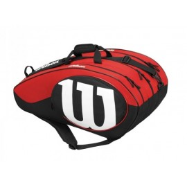 Tenisová taška Wilson Match II 12 black/red