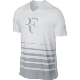 Pánské tenisové tričko Nike RF white grey