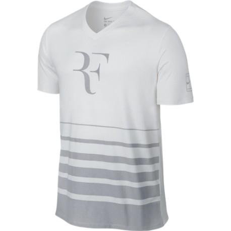 Pánské tenisové tričko Nike Roger Feder white/wolf grey