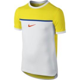 Dětské tenisové tričko Nike Premium Rafa yellow/white