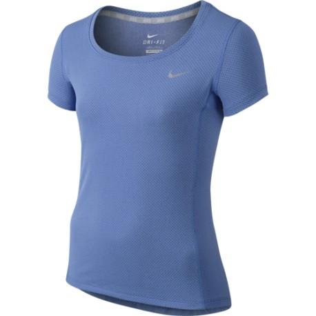 Dívčí tenisové tričko Nike Dri-FIT Contour blue