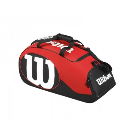 Sportovní taška Wilson Match II Duffel black/red