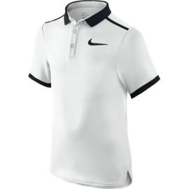 Chlapecké tenisové tričko Nike Advantage Polo white/black