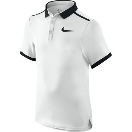 Chlapecké tenisové tričko Nike Advantage Solid Polo white/black