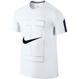 Pánské tenisové tričko Nike Court Graphic Crew white