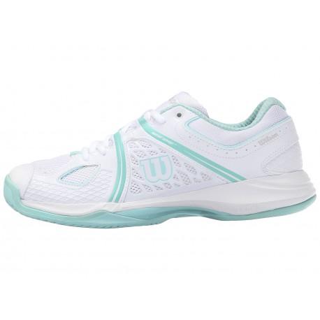 Dámská tenisová obuv Wilson NVision WH/Ablue/MINT ICE W