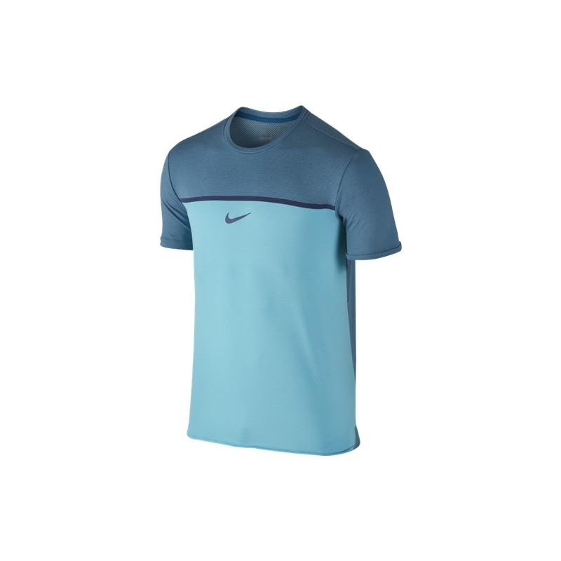 8bfcfb0b9deb Pánské tenisové tričko Nike Challenger Premier Rafa OMEGA BLUE ...