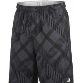 """Pánské tenisové šortky Wilson Stretch Woven 9"""" Plaid Coal"""