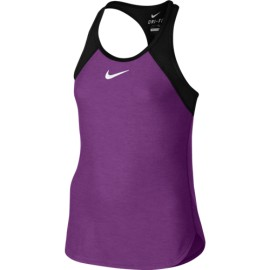 Dívčí tenisové tílko Nike Slam  COSMIC PURPLE/BLACK/WHITE
