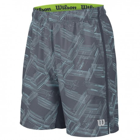 "Pánské tenisové šortky Wilson Summer Perspective Print 8"" Cool/Blue Mirage /Silver"