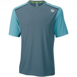 Pánské tenisové tričko Wilson Summer Jacquard Blue Mirage