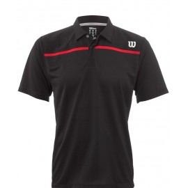 Pánské tenisové tričko Wilson Star Woven Polo black