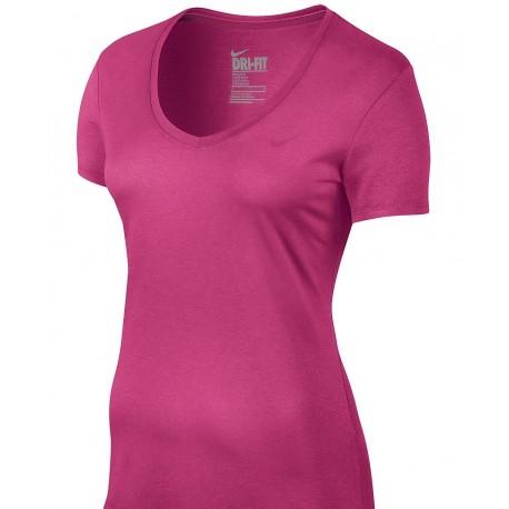 Dámské tenisové tričko Nike Pro V-Neck pink
