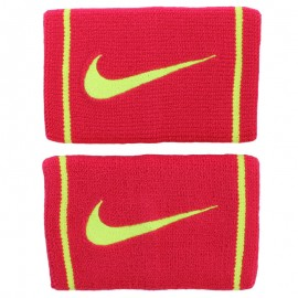 Potítka NIKE Dri-Fit doublewide red/limet 2 ks
