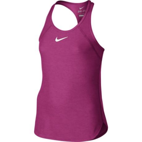 6d2717044b1 Dívčí tenisové tílko Nike Slam VIVID PINK - Tenissport Březno