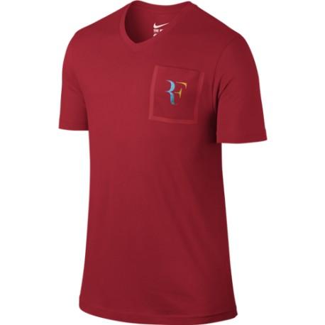 Pánské tenisové tričko Nike RF Stealth UNIVERSITY RED