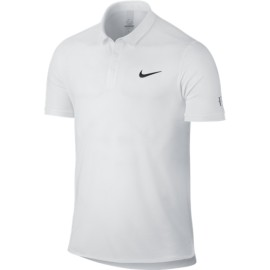 Panské tenisové tričko Nike Advantage RF WHITE/WHITE/BLACK
