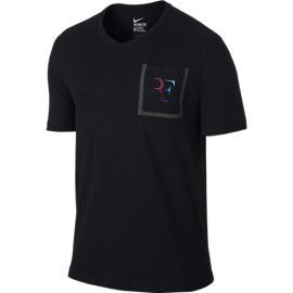 Pánské tenisové tričko Nike RF Stealth Black