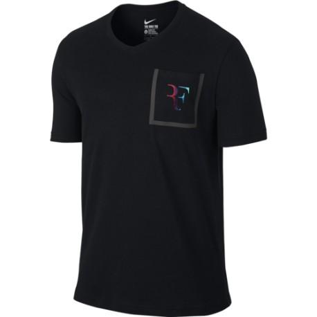 Pánské tenisové tričko Nike Roger Stealth Black