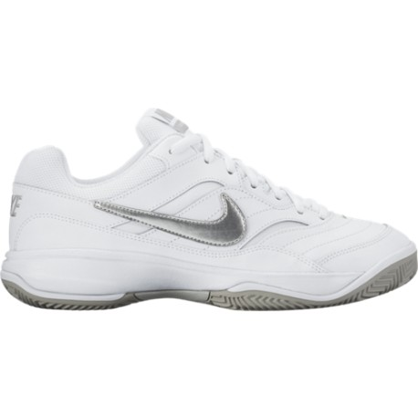 Dámská tenisová obuv Nike Court Lite Clay WHITE/MATTE SILVER-MEDIUM GREY