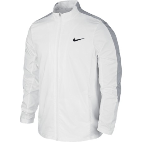 Pánská tenisová bunda Nike Court WHITE/WOLF GREY/WHITE/BLACK