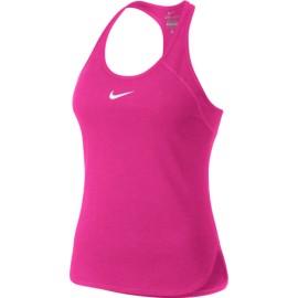 Dámské tenisové tílko Nike Court Dry HYPER PINK/HYPER PINK/WHITE