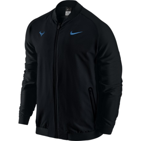 Pánská tenisová bunda Nike Rafa   BLACK/BLACK/LT PHOTO BLUE