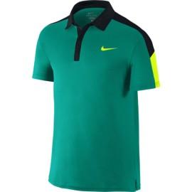 Pánské tenisové tričko Nike Team Court Polo RIO TEAL/BLACK/VOLT/VOLT