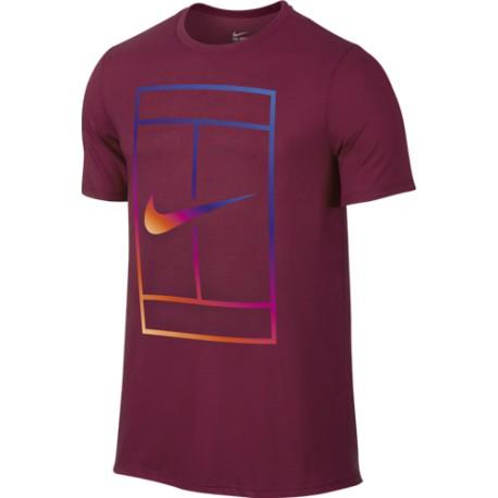 Pánské tenisové tričko Nike Irridescent Court NOBLE RED