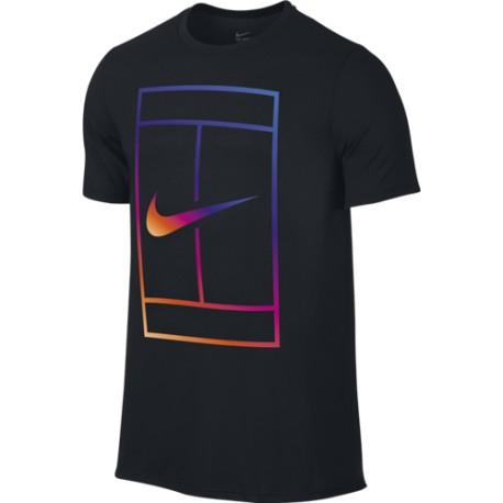 Pánské tenisové tričko Nike Irridescent Court Black