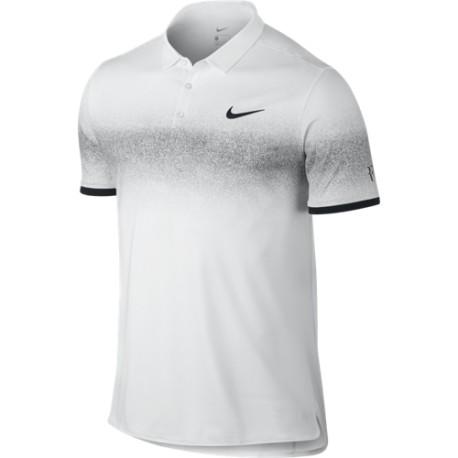 Pánské tenisové tričko Nike RF Advantage Polo WHITE/BLACK
