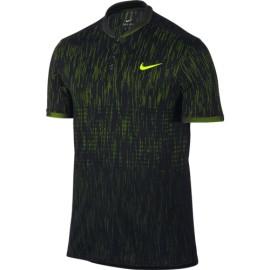 Pánské tenisové tričko Nike Dry Advantage SS Premier Polo BLACK/VOLT