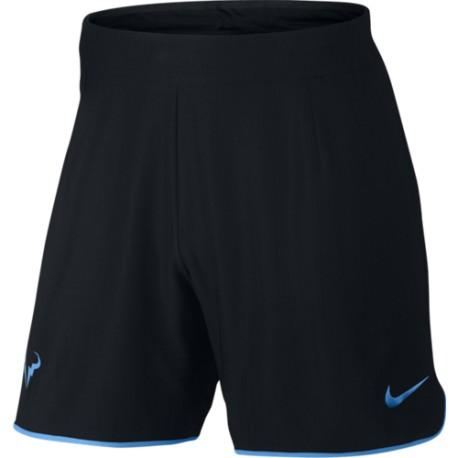 Pánské tenisové šortky Nike Flex Rafa Gladiator BLACK/LT PHOTO BLUE/LT PHOTO BLUE
